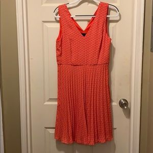 Banana Republic Factory Dresses - Coral dress with pleated skirt